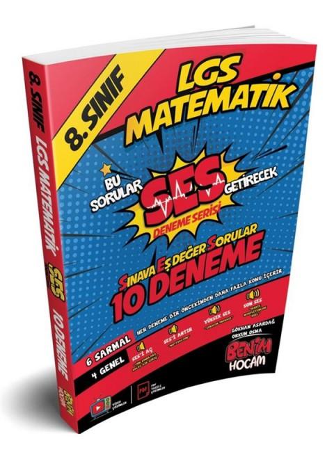 LGS 8.Sınıf SES Getirecek Matematik 10 Deneme Benim Hocam Yayınları