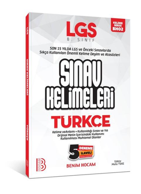 LGS Türkçe Sınav Kelimeleri 5 Deneme İlaveli Benim Hocam Yayınları