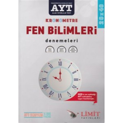 Limit Yayınları AYT Kronometre Fen Bilimleri 20x40 Deneme