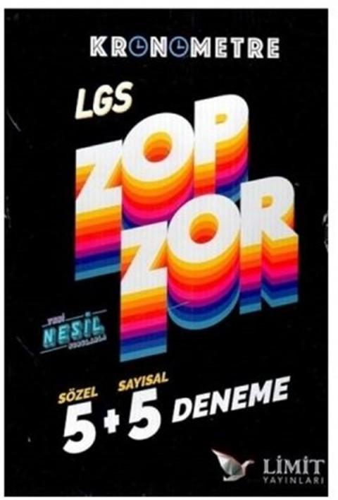 Limit Yayınları LGS Sözel Sayısal Kronometre Zop Zor 5+5 Deneme