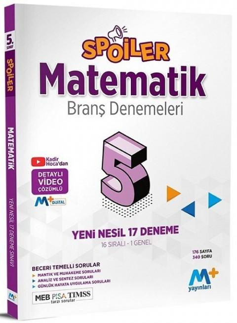 Martı Plus Yayınları 5. Sınıf Matematik Spoiler 17 Branş Deneme