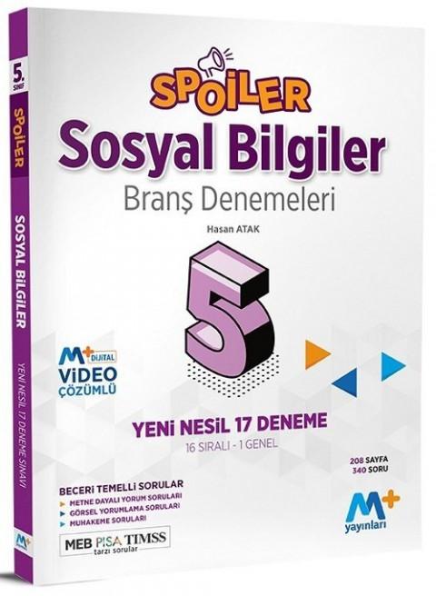 Martı Plus Yayınları 5. Sınıf Sosyal Bilgiler Spoiler 17 Branş Deneme