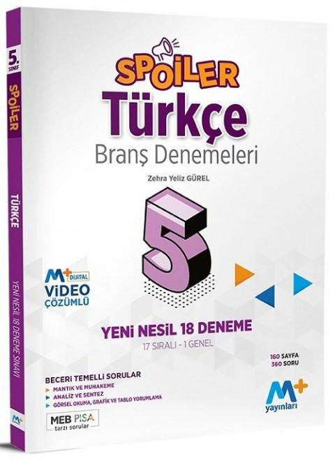 Martı Plus Yayınları 5. Sınıf Türkçe Spoiler 18 Branş Deneme