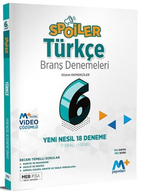 Martı Plus Yayınları 6. Sınıf Türkçe Spoiler 18 Branş Deneme