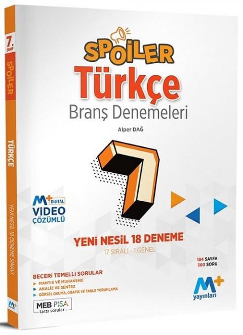 Martı Plus Yayınları 7. Sınıf Türkçe Spoiler 17 Branş Deneme
