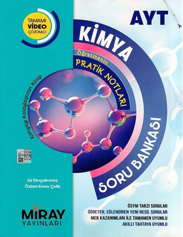 Miray Yayınları AYT Kimya Tamamı Video Çözümlü Soru Bankası