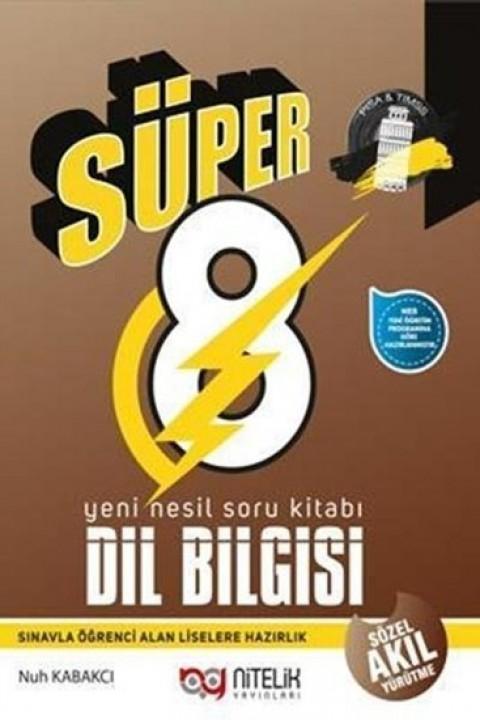 Nitelik Yayınları 8. Sınıf Dil Bilgisi Süper Soru Kitabı