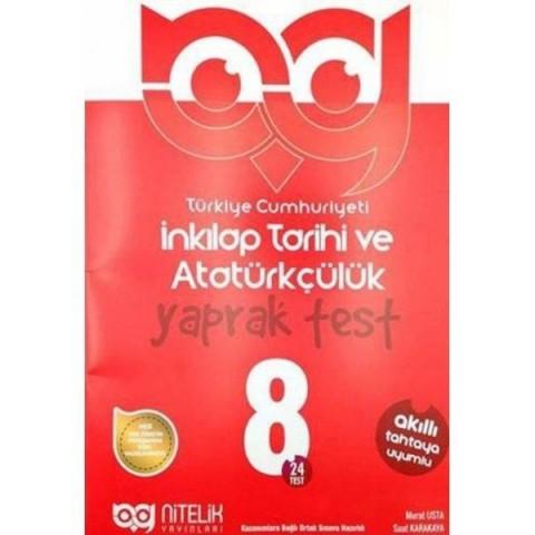 Nitelik Yayınları 8. Sınıf İnkılap Tarihi ve Atatürkçülük Yaprak Test