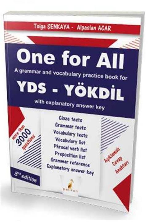 One For All A Grammar and Vocabulary Practice Book For YDS Pelikan Yayınları