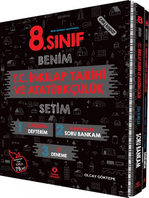 Örnek Akademi Yayınları 8. Sınıf Benim T.C İnkılap Tarihi ve Atatürkçülük Setim