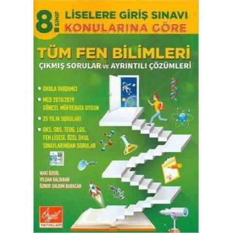 Özgül Yayınları 8. Sınıf LGS Konularına Göre Tüm Fen Bilimleri Çıkmış Sorular ve Çözümleri