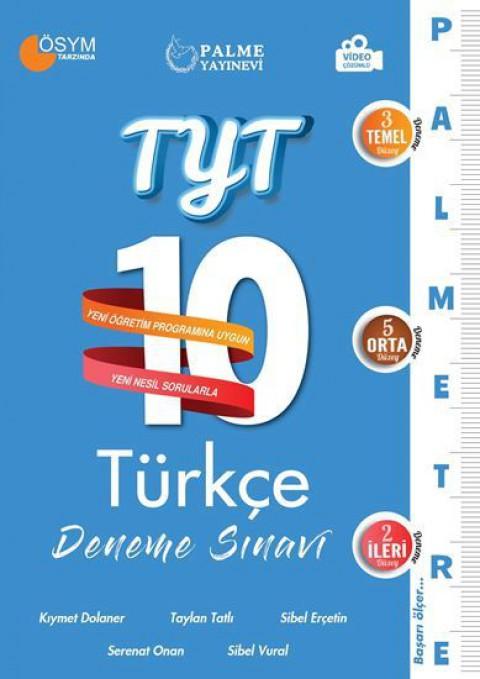 Palme Yayınları YKS TYT Türkçe Palmetre 10 Deneme Sınavı Video Çözümlü