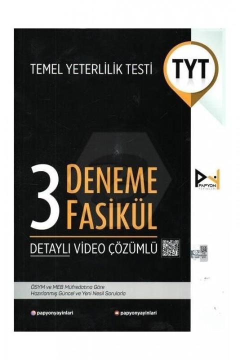 Papyon Yayınları YKS TYT 3 Fasikül Deneme Video Çözümlü