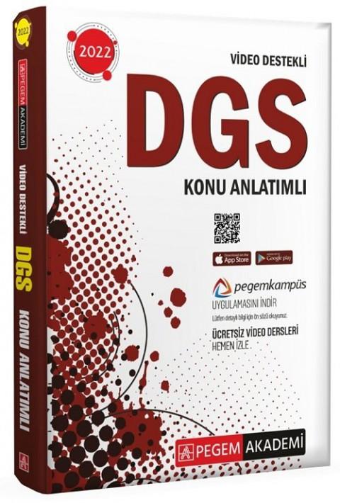 Pegem Akademi Yayınları 2022 DGS Konu Anlatımlı Video Destekli