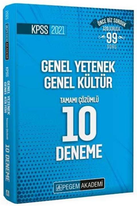 Pegem Yayınları 2021 KPSS Genel Yetenek Genel Kültür Tamamı Çözümlü 10 Deneme