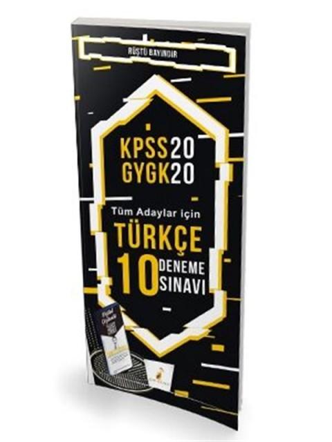 Pelikan Yayınları 2020 KPSS Türkçe 10 Deneme Sınavı Dijital Çözümlü