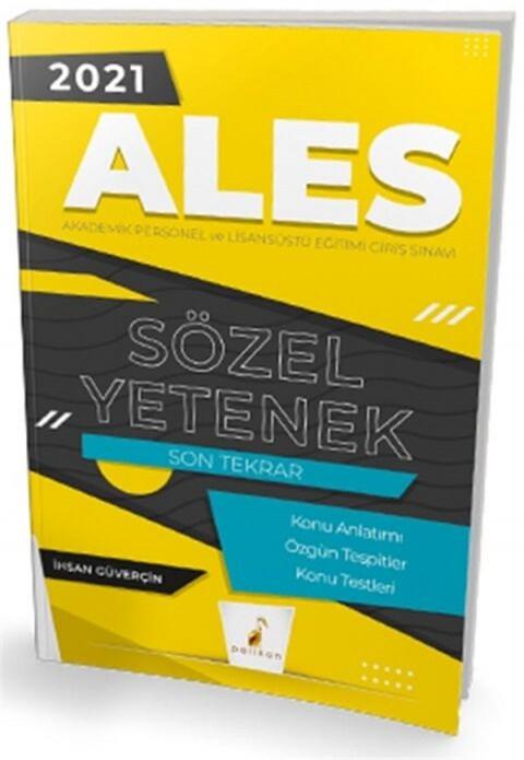 Pelikan Yayınları 2021 ALES Sözel Yetenek Son Tekrar Konu Anlatımı