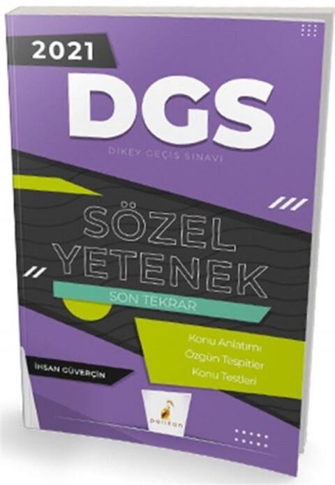 Pelikan Yayınları 2021 DGS Sözel Yetenek Son Tekrar Konu Anlatımı