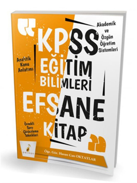 Pelikan Yayınları KPSS Eğitim Bilimleri Efsane Tek Kitap Konu Anlatımlı Soru Bankası