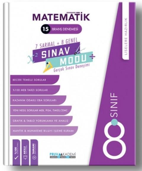 Pruva Akademi 8. Sınıf Matematik Sınav Modu 15 Deneme