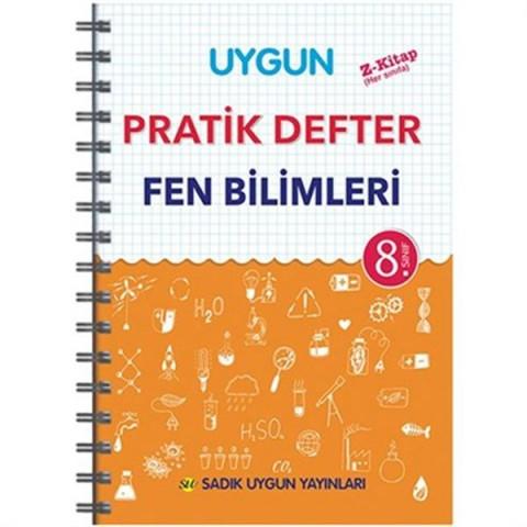 Sadık Uygun Yayınları 8. Sınıf Uygun Fen Bilimleri Pratik Defter
