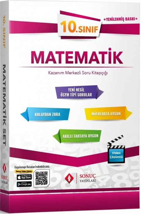 Sonuç Yayınları 10. Sınıf Matematik Modüler Set Soru Bankası