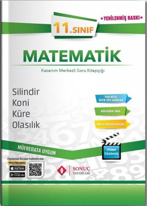 Sonuç Yayınları 11. Sınıf Matematik Silindir-Koni-Küre-Olasılık Soru Bankası