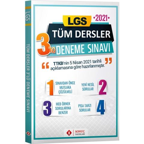 Sonuç Yayınları LGS Tüm Dersler 3'lü Deneme