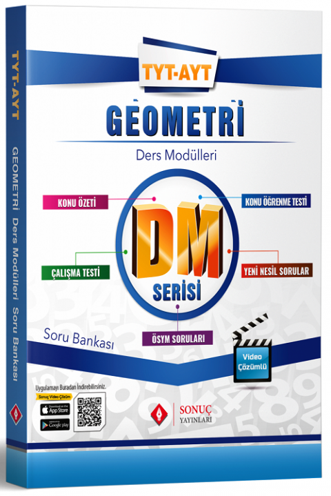 Sonuç Yayınları YKS TYT AYT Geometri DM Ders Modülleri Soru Bankası