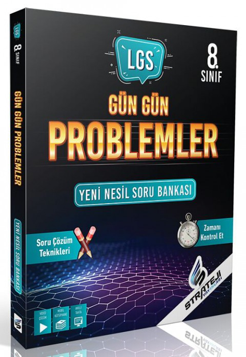 Strateji Yayınları 8. Sınıf LGS Matematik Gün Gün Problemler Soru Bankası