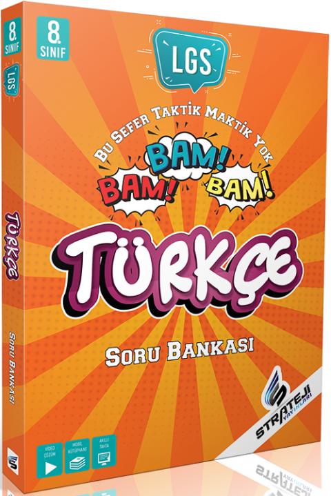 Strateji Yayınları 8. Sınıf LGS Türkçe Bam Bam Soru Bankası