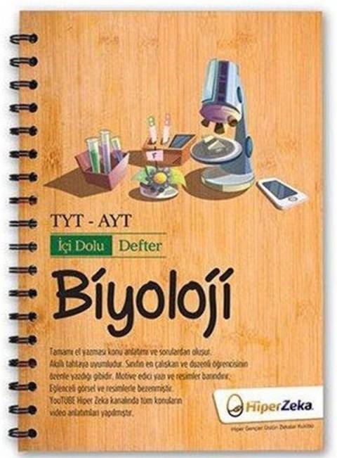 TYT AYT Biyoloji İçi Dolu Defter Hiper Zeka Yayınları