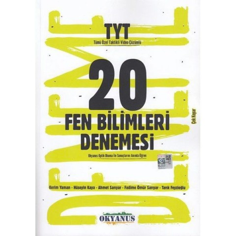 TYT Fen Bilimleri 20 Çek Kopar Deneme Okyanus Yayınları