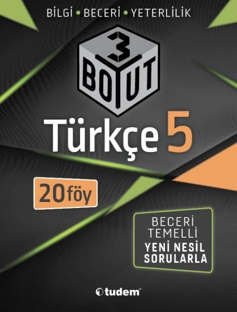 Tudem Yayınları 5.SINIF TÜRKÇE 3 BOYUTLU 20 FÖY 2020