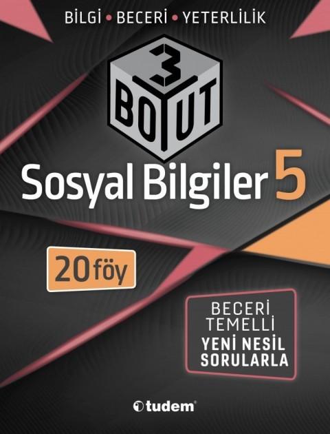 Tudem Yayınları 5.Sınıf Sosyal Bilgiler 3 Boyut 20 Föy Beceri Temelli Soru Bankası
