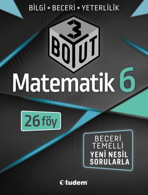 Tudem Yayınları 6.Sınıf Matematik 3 Boyut 26 Föy Beceri Temelli Soru Bankası