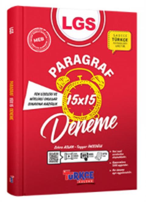 Türkçe Kulübü LGS Paragraf 15X15 Deneme