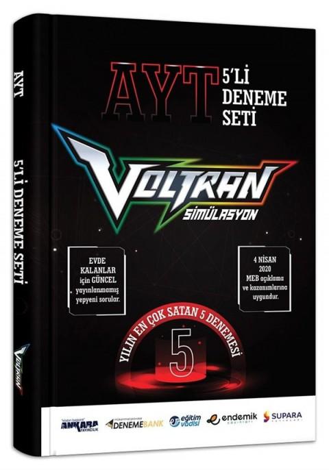 Voltran AYT 5'li Deneme Seti - 5 Farklı Yayın 5 Farklı Deneme