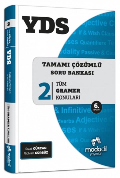 YDS Tamamı Çözümlü Soru Bankası Serisi 2 Tüm Gramer Konuları Modadil Yayınları