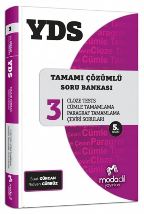 YDS Tamamı Çözümlü Soru Bankası Serisi 3 Cloze Tests Modadil Yayınları