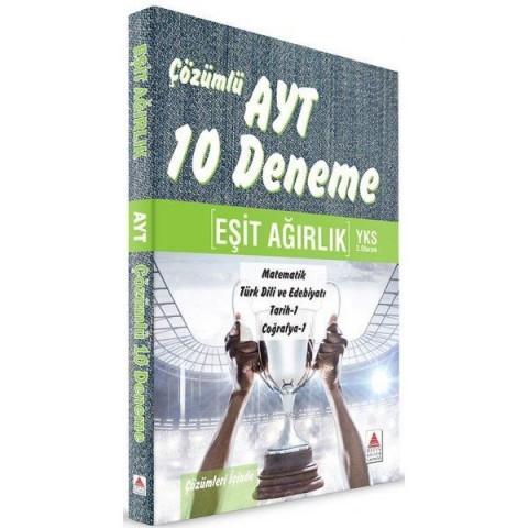 YKS 2. Oturum AYT Eşit Ağırlık Çözümlü 10 Deneme Delta Kültür Yayınları