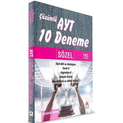YKS 2. Oturum AYT Sözel Çözümlü 10 Deneme Delta Kültür Yayınları