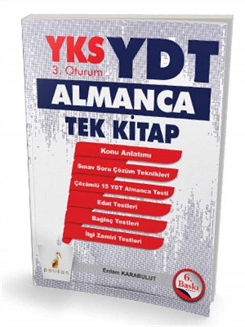 YKS 3.Oturum YDT Almanca Tek Kitap Pelikan Yayınevi