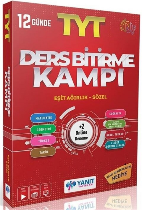 Yanıt Yayınları TYT Eşit Ağırlık Sözel Ders Bitirme Kampı