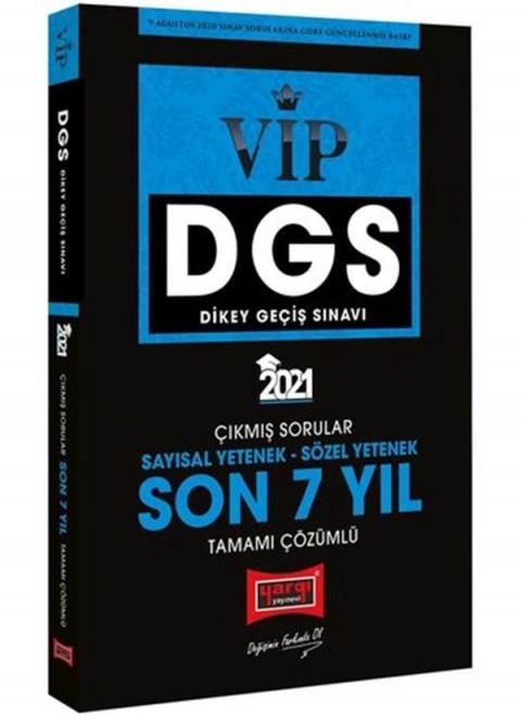 Yargı Yayınları 2021 DGS VIP Sayısal Sözel Yetenek Son 7 Yıl Tamamı Çözümlü Çıkmış Sorular