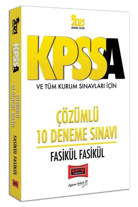 Yargı Yayınları 2021 KPSS A Grubu ve Tüm Kurum Sınavları İçin Çözümlü 10 Fasikül Deneme Sınavı