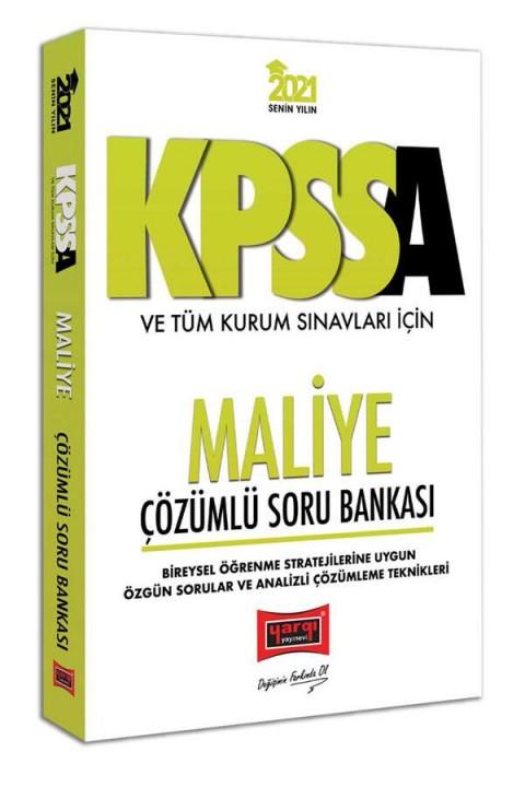Yargı Yayınları 2021 KPSS A Grubu ve Tüm Kurum Sınavları İçin Maliye Çözümlü Soru Bankası