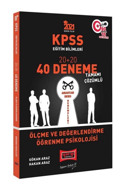 Yargı Yayınları 2021 KPSS Eğitim Bilimleri Ölçme ve Değerlendirme, Öğrenme Psikolojisi Tamamı Çözümlü 40 Deneme