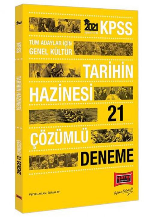 Yargı Yayınları 2021 KPSS GK Tarihin Hazinesi Çözümlü 21 Deneme