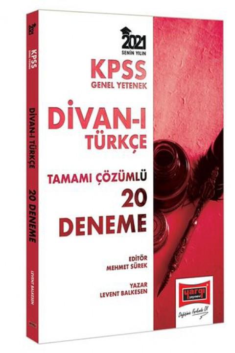 Yargı Yayınları 2021 KPSS GY Divanı Türkçe Tamamı Çözümlü 20 Deneme